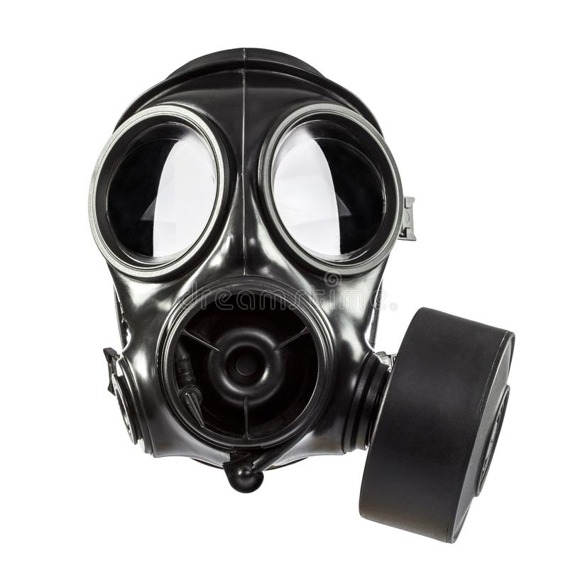 S10 sas gas mask. Army gas mask isolated on white background stock images