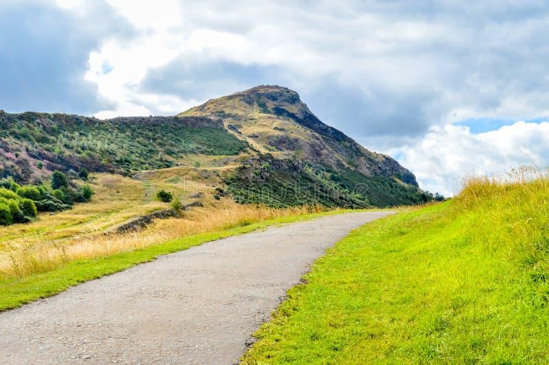 ` S Seat, Edimburgo, Scozia di Arthur fotografie stock libere da diritti