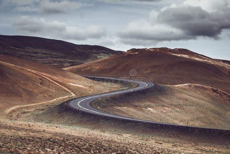 S-shaped δρόμος στοκ εικόνες