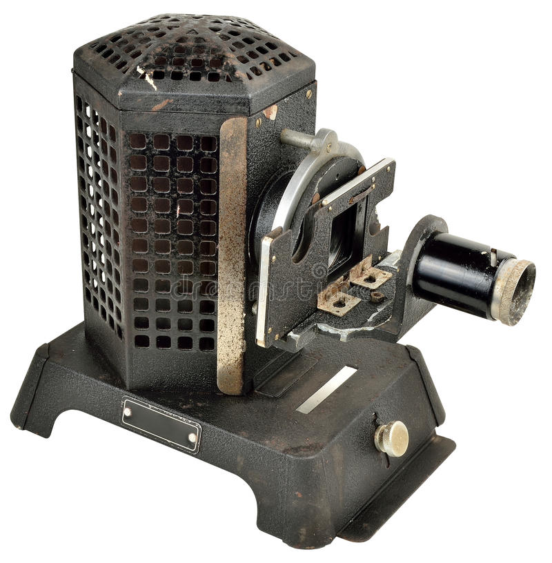 1930's slide projector royalty free stock image