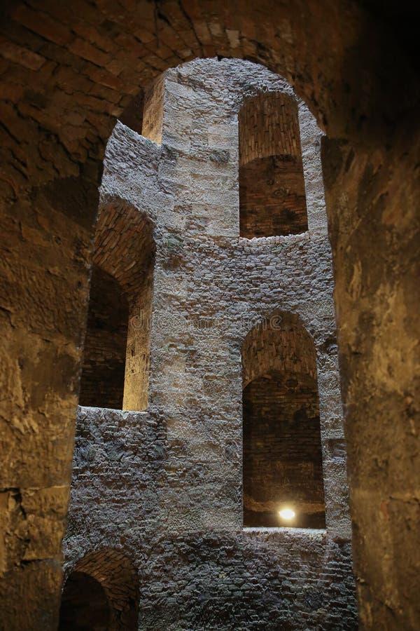 ` S St. Patrick хорошо, Orvieto, Умбрия, Италия стоковые изображения rf