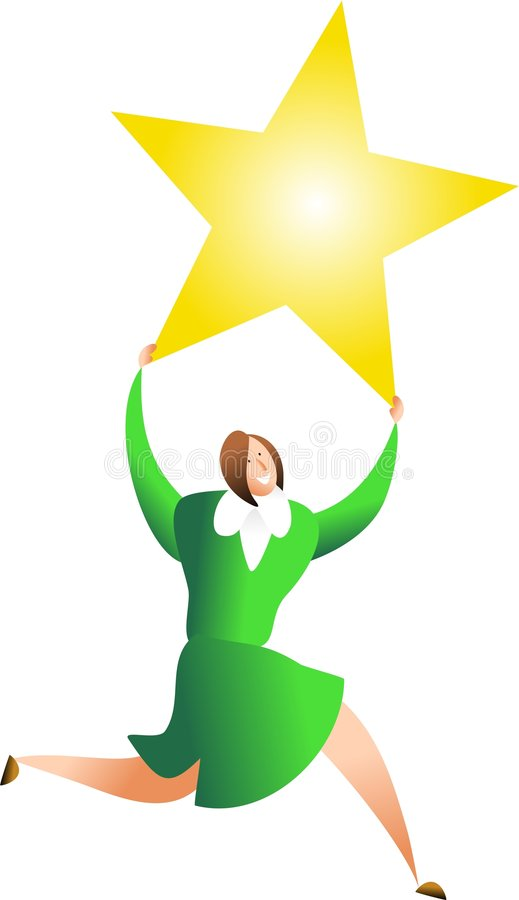 Download She's a star stock illustration. Illustration of star - 1223259
