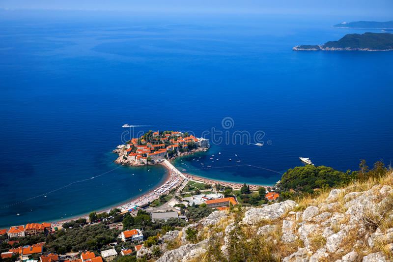 S.Stefan. Island of S.Stefan.Montenegro royalty free stock images