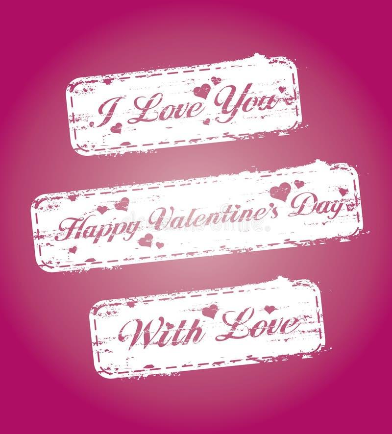 s stempluje valentine ilustracji