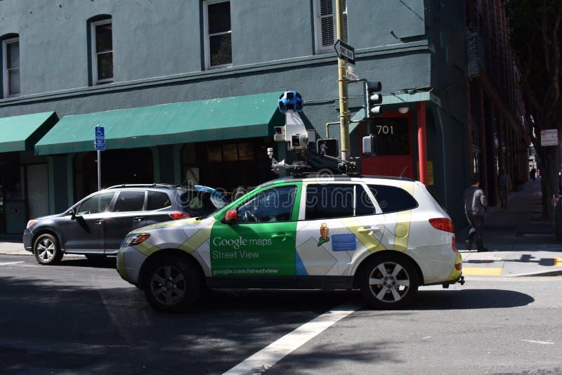 ` S Streetview Google пути получает непрерывно совершенную скульптуру стоковое фото rf
