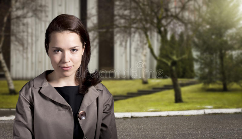 60's style girl royalty free stock image