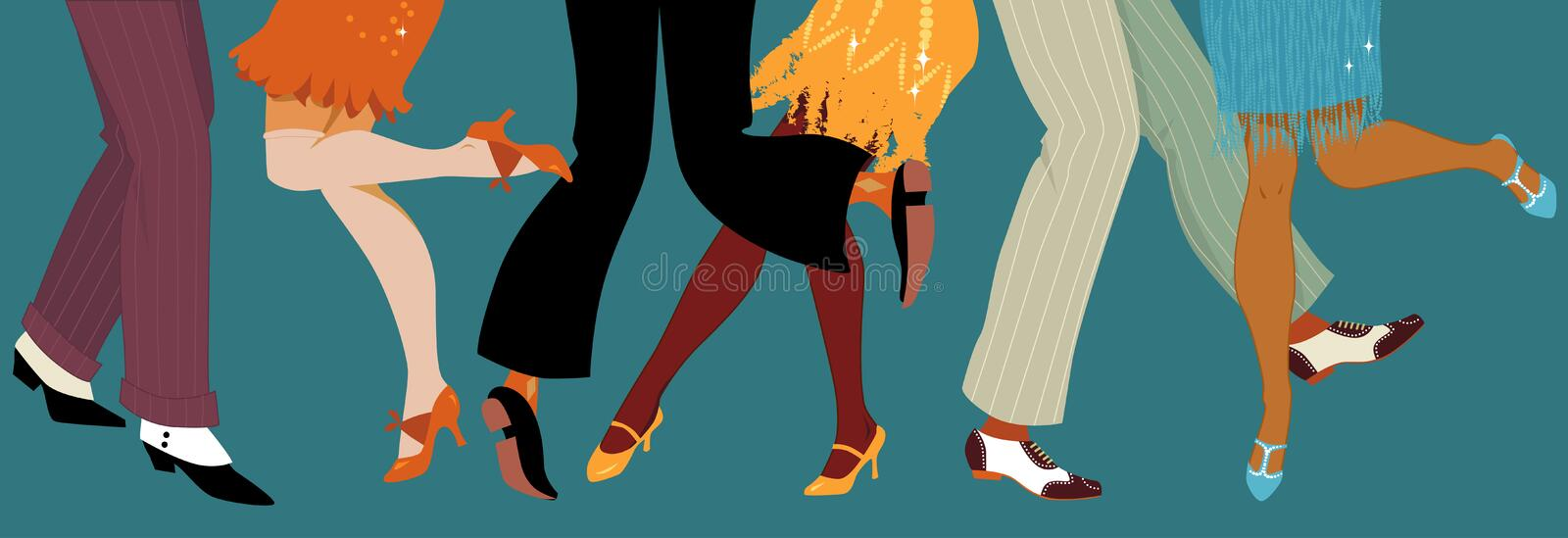 1920s style party royalty free illustration
