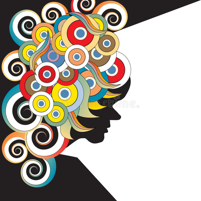 60s Style Poster. A 60s style poster image is featured in an abstract background illustration vector illustration