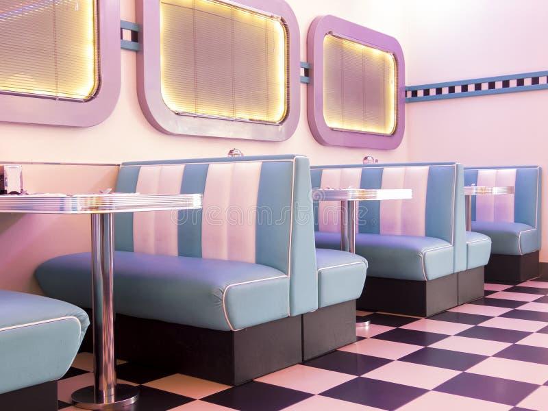 50s stylu hamburger zdjęcia stock