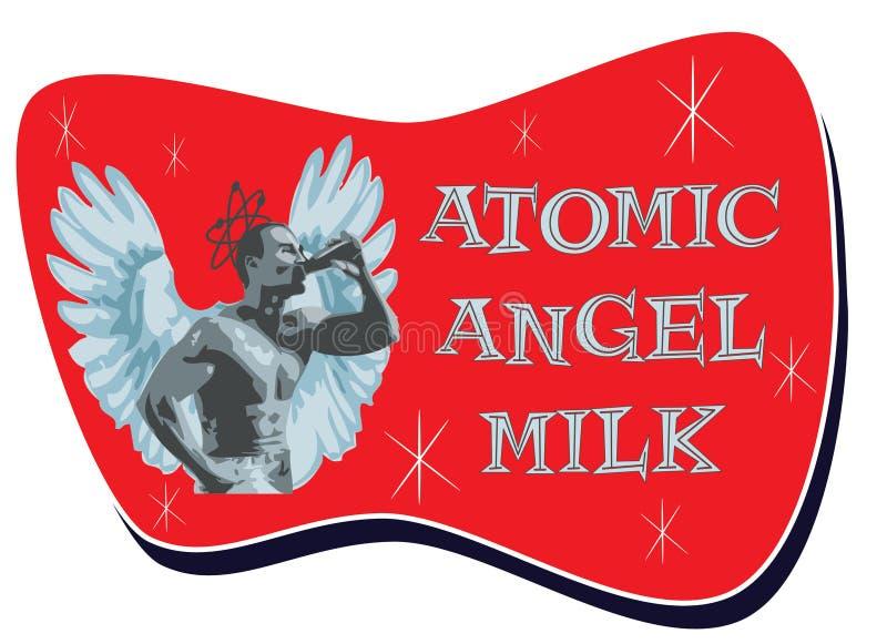 1950s stylu mleka logo ilustracji
