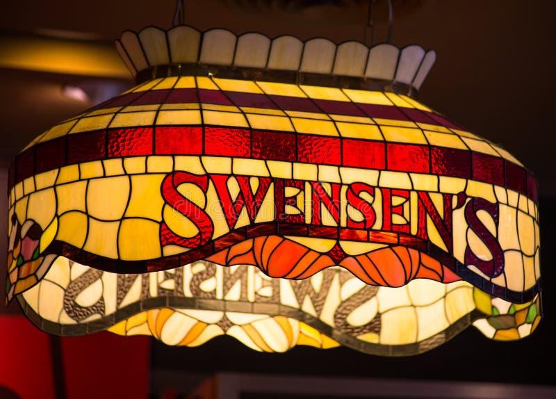` S Swensen глобальная цепь ресторанов мороженого в Таиланде стоковая фотография rf