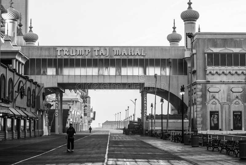 ` S Taj Mahal do trunfo, Atlantic City, NJ fotos de stock royalty free