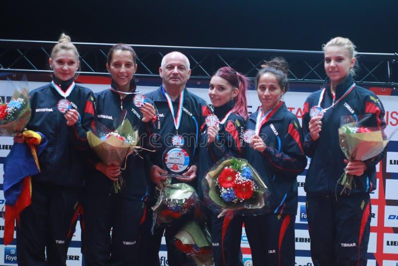 ` S Team European Champion 2017 de fille de la Roumanie photos libres de droits