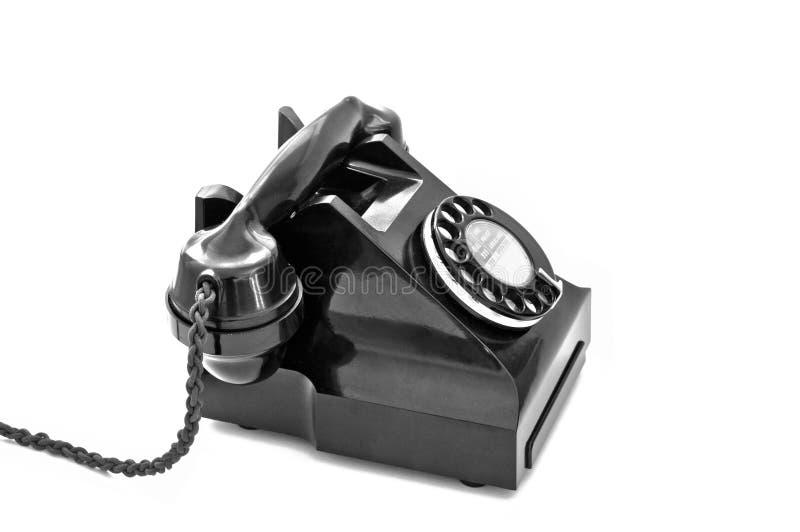 1950s Telephone on white background royalty free stock image