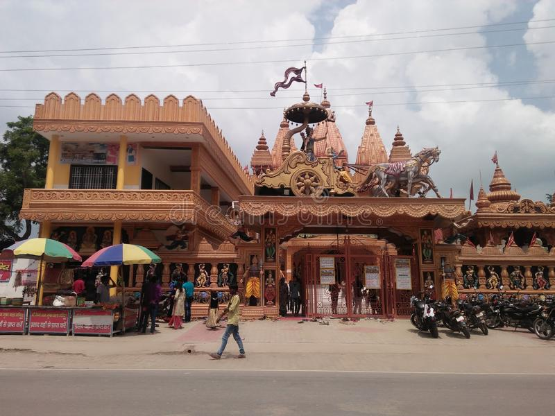 Temple of India. It`s a temple and It`s situated in Uttar Pradesh stock photos