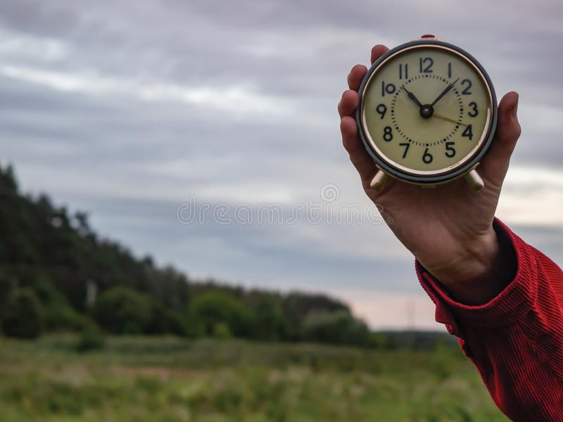 It`s time to decide something stock image