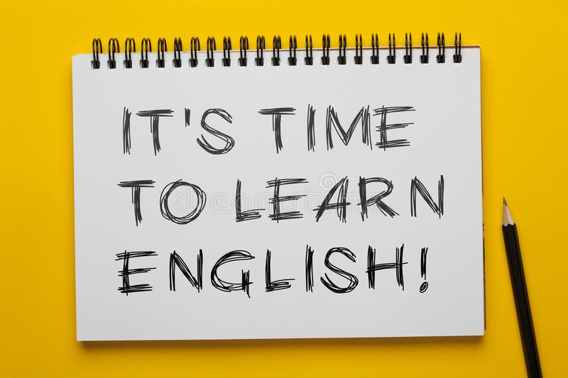It`s Time To Learn English stock images