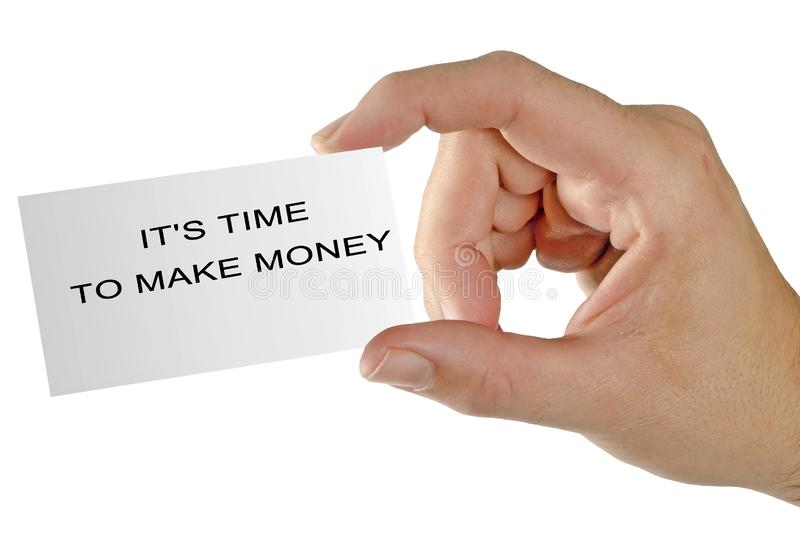 It`s time to make money royalty free stock images