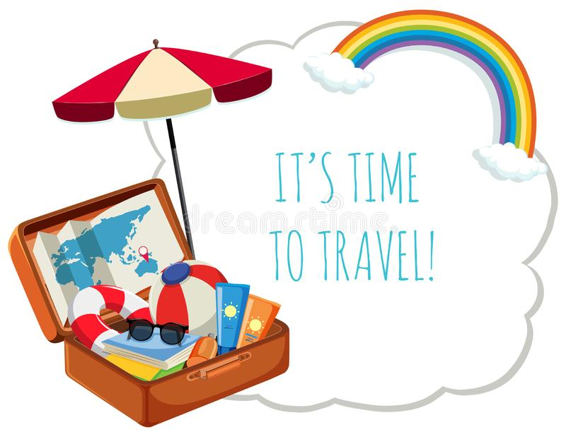 It`s time to travel vector illustration