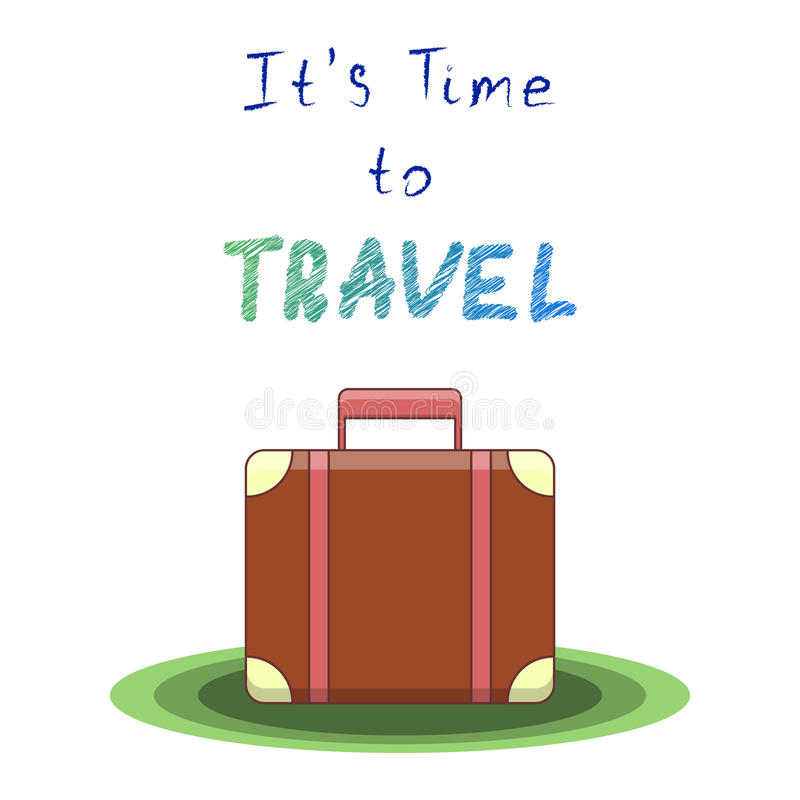It s time to travel. Vector illustration stock illustration