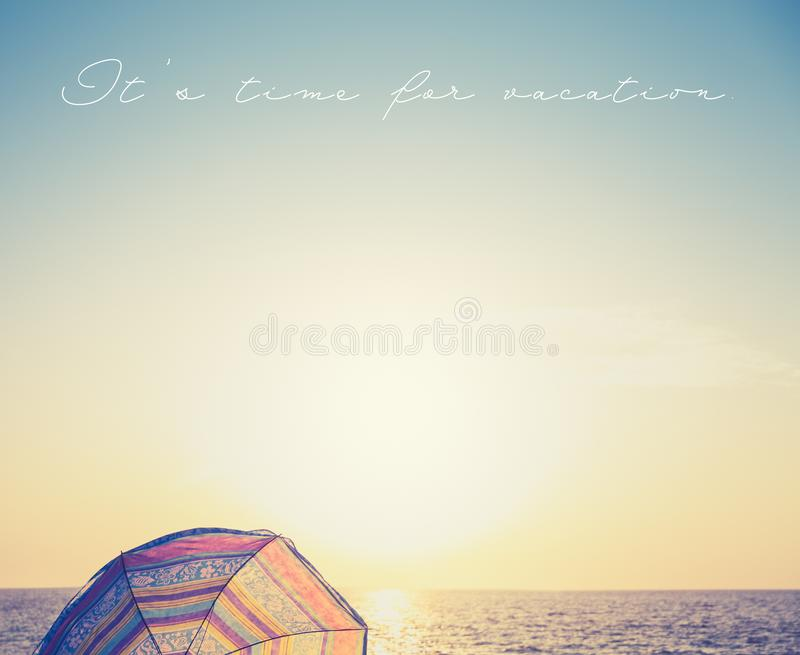 It`s time for vacation stock photography