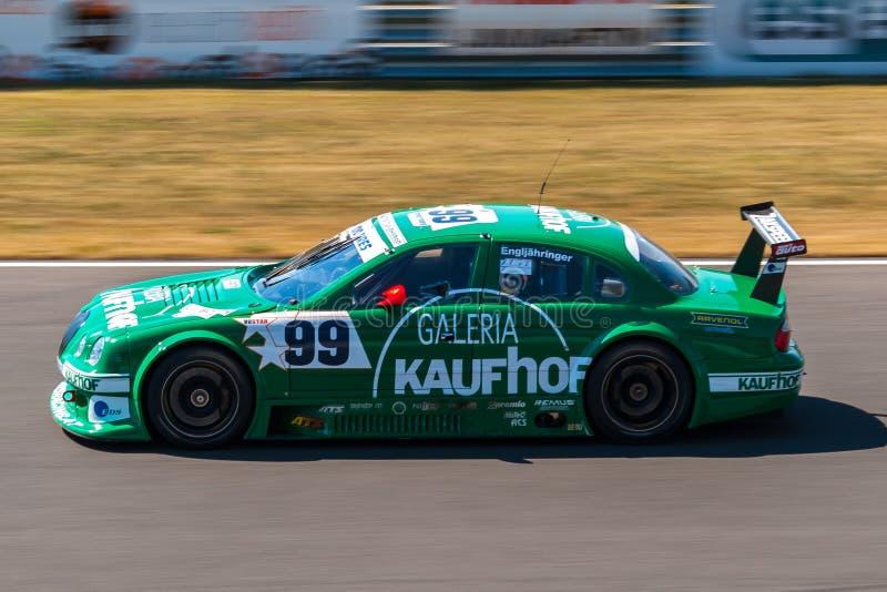S-tipo carro de corridas de Jaguar fotografia de stock royalty free
