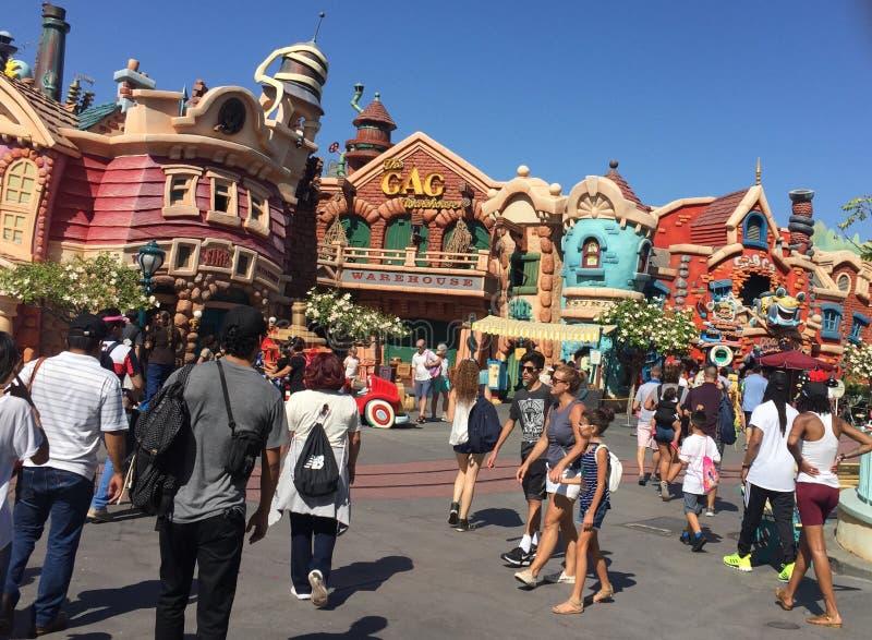 ` S Toontown de Mickey, Disneylândia, Califórnia fotos de stock royalty free