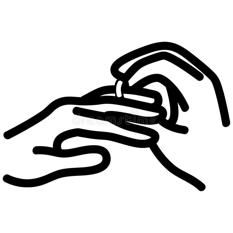 S?tt en utdragen cirkel f?rest?ende, vektorn, Eps, logoen, symbolen, crafteroks, konturillustrationen f?r olikt bruk vektor illustrationer