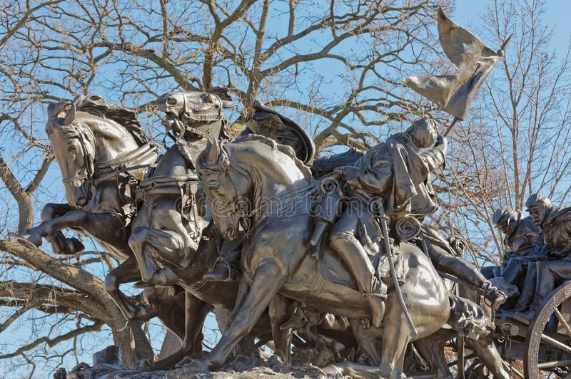 Ulysses s Памятник гражданской войны Grant в DC Вашингтона стоковое фото
