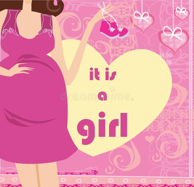 ` s una ragazza! royalty illustrazione gratis