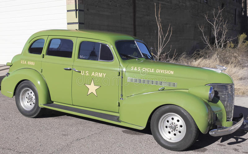 A 40s US Army Staff Car, Lowell, Arizona stock photo