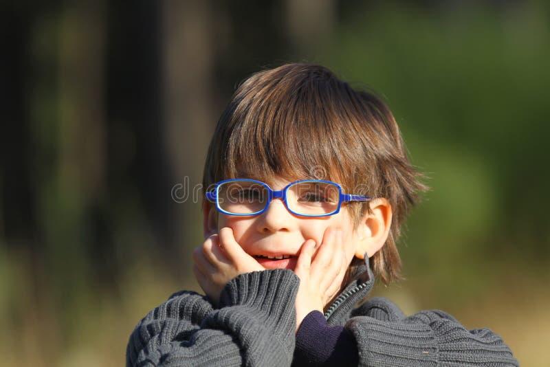 Download S'user De Lunettes De Garçon Photo stock - Image du cheveu, lunettes: 8664136