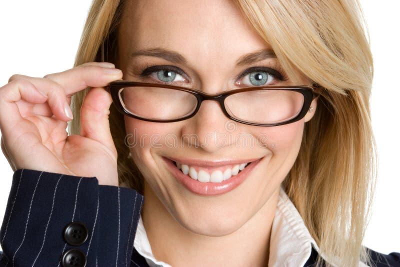 s'user en verre de femme d'affaires photos stock