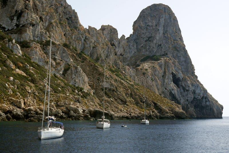 S Vedra, Ibiza spanje stock afbeeldingen
