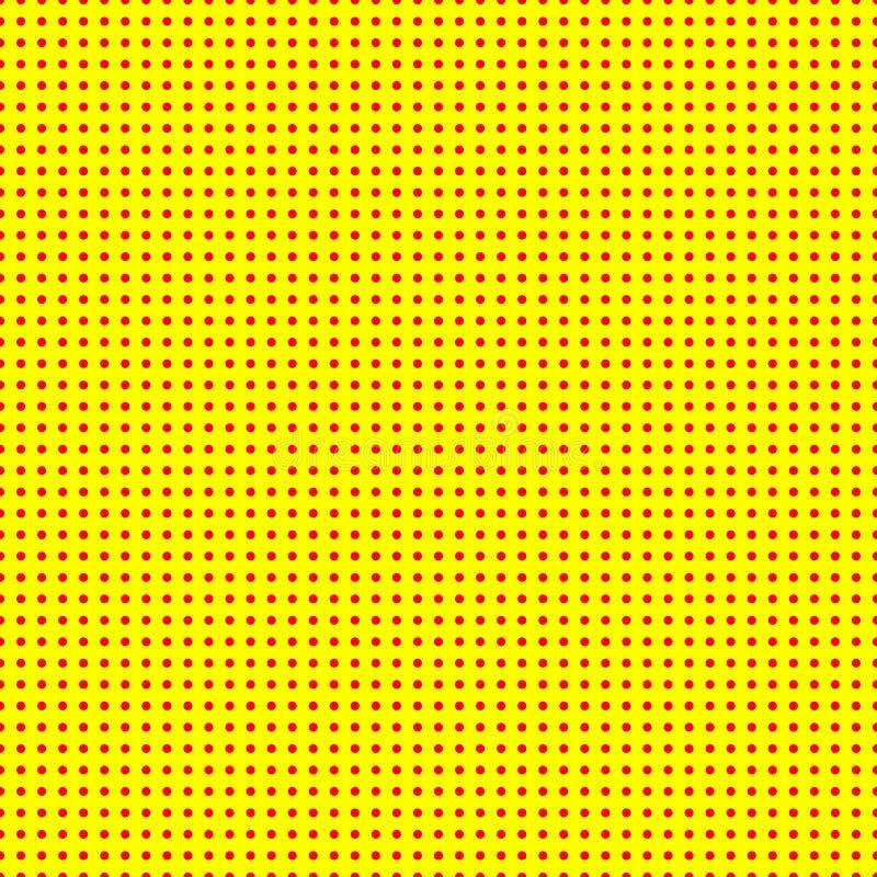 50s vermelho e amarelo, teste padrão do fundo do popart 60s ilustração do vetor