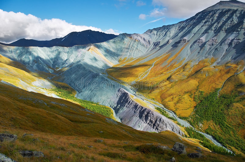 It's a very beautiful Altay mountains_01 stock images