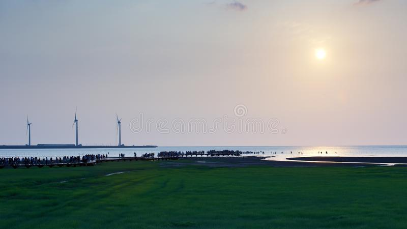 Gaomei wetlands royalty free stock images