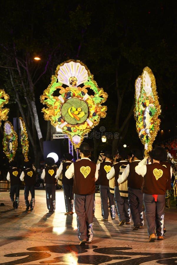 S Vicente Garlands Parade, festeggiamenti popolari delle vicinanze di Lisbona fotografia stock libera da diritti