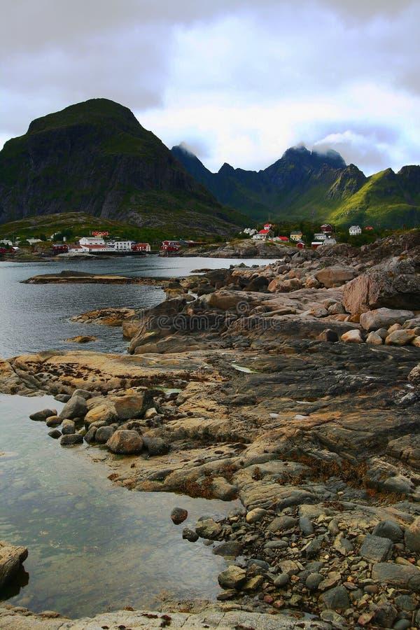 A's village in the lofoten islands royalty free stock photos