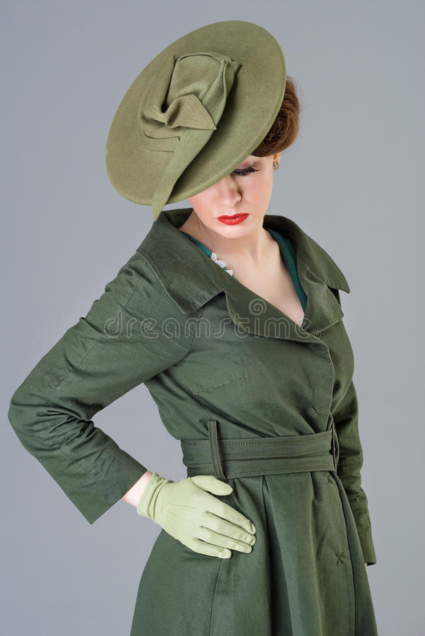 Download Forties Vintage Vogue Style High Fashion Woman Stock Photo - Image: 30207748