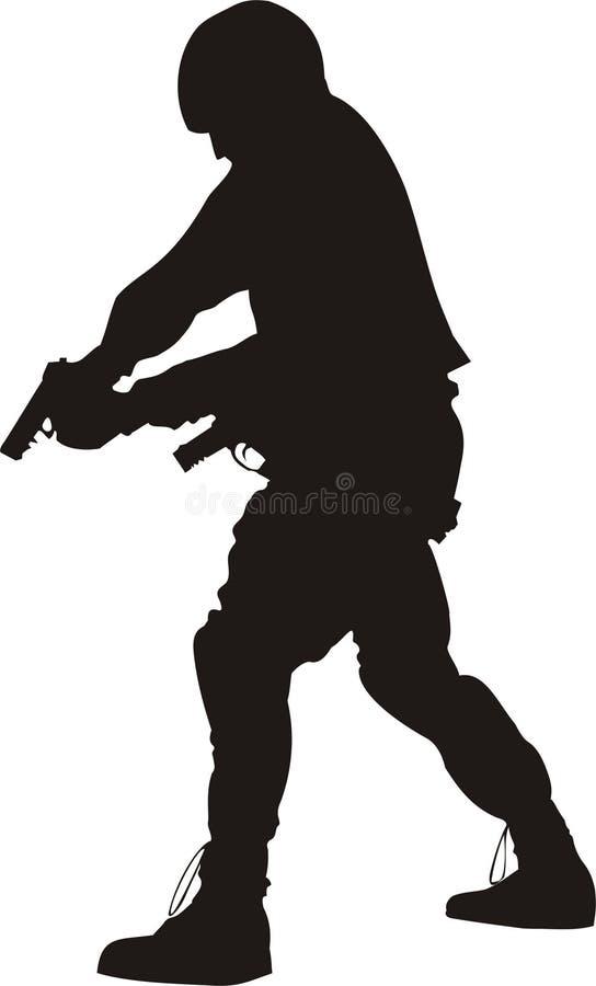S.W.A.T. silhouet vector illustratie