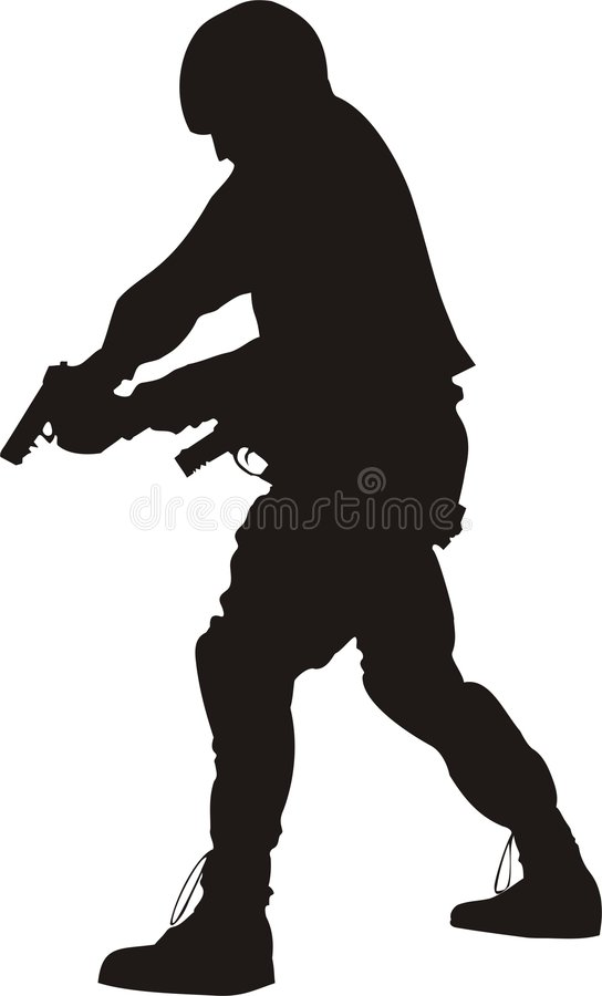 Download S.W.A.T. silhouette stock illustration. Image of assault - 353057
