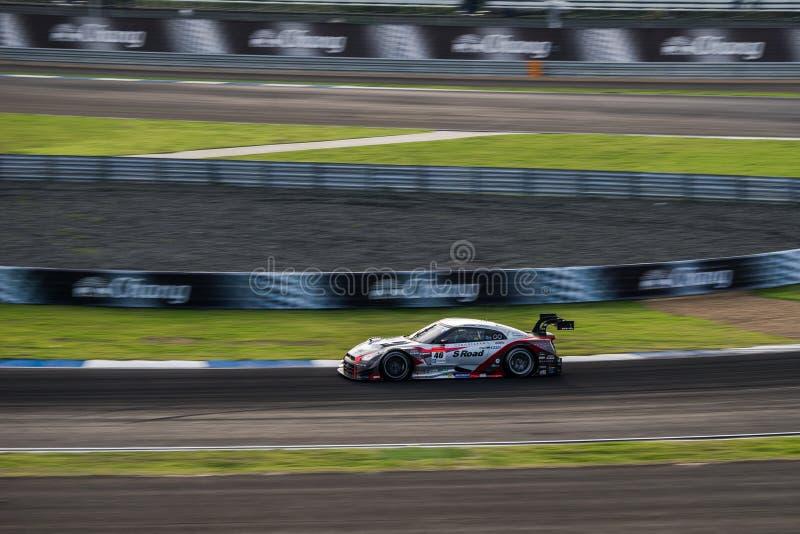 S Weg MOLA GT-r van MOLA in GT500-Rassen in Burirum, Thailand 201 royalty-vrije stock foto's