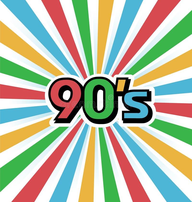 90s Weinlese Art Background vektor abbildung
