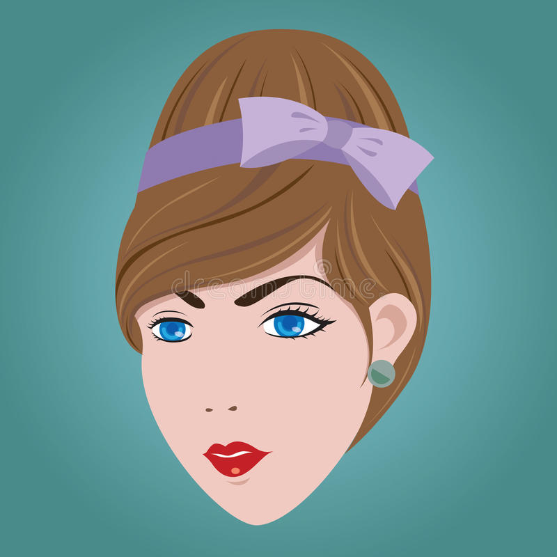 60s Woman Hair Style. 60s Woman Hair Style EPS10 stock illustration
