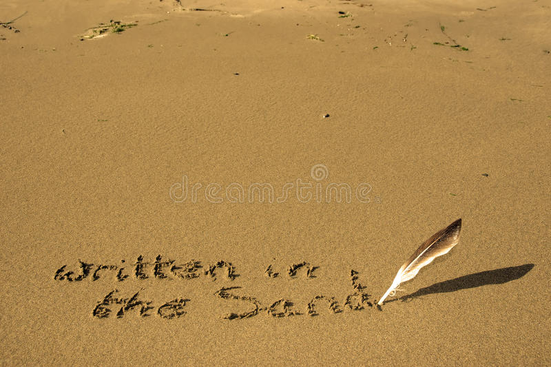 It S Written In The Sand Stock Photography