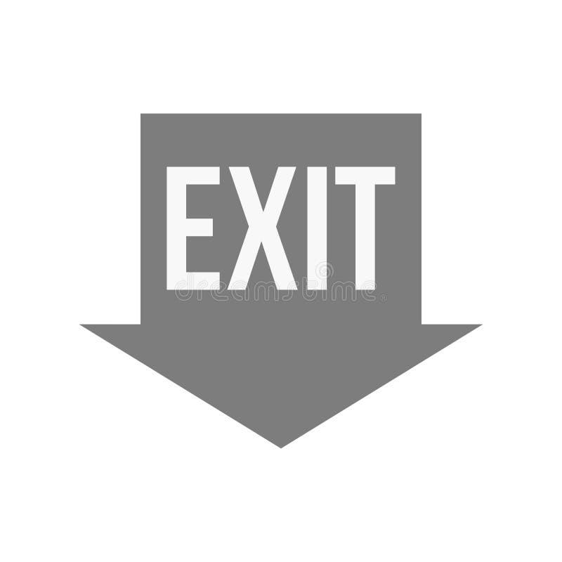 saída ilustração do vetor