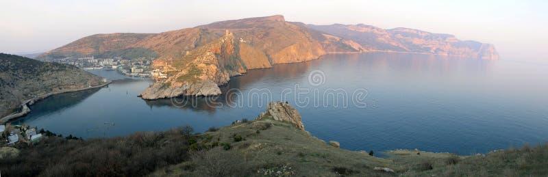 Saída da baía de Balaklava fotografia de stock royalty free