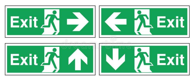 Saída de emergência ilustração stock