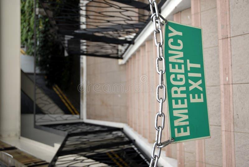 Saída de emergência - acorrentada fotos de stock